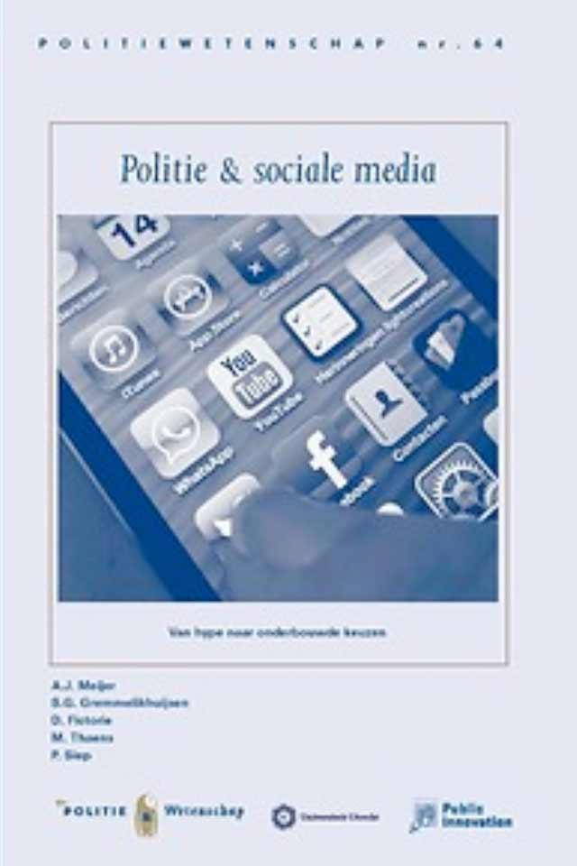 Prof dr Marcel Thaens book Politie en Sociale Media team human capital LCT Amsterdam