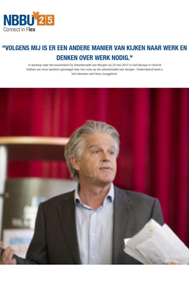 Hans Junggeburt Arbeidsmarkt van Morgen NBBU